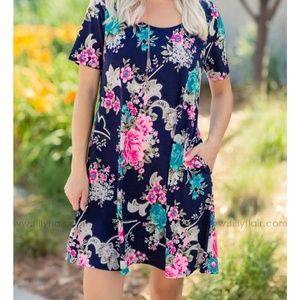 Filly Flair Dresses - Floral dress with POCKETS!